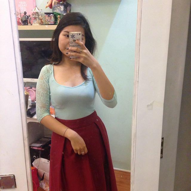 Bershka Lace Top