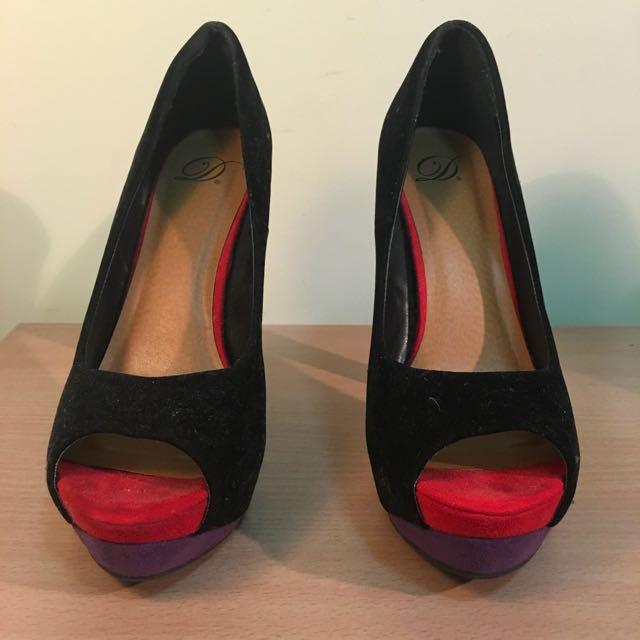 Block Colored Heels