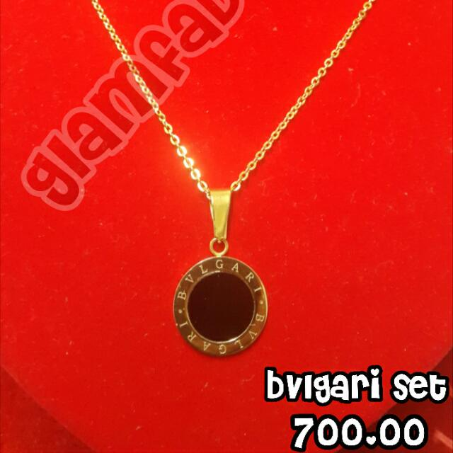 Bvlgari Earings And Necklace Set