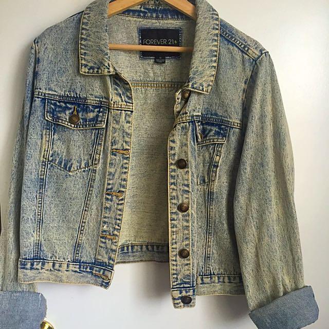 Forever21 Oversize Jean Jacket