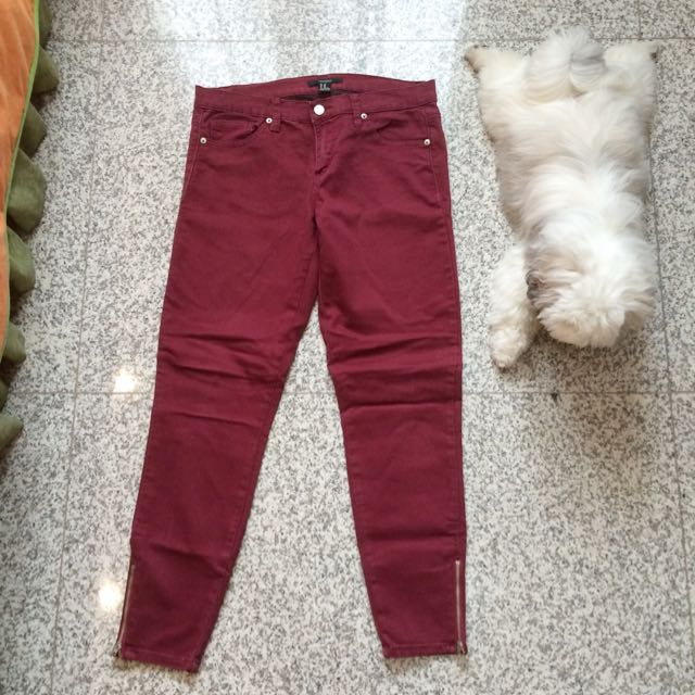 Forever 21 Maroon Pants