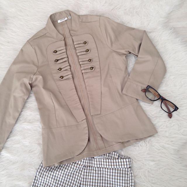 Gaudi Khaki Military Jacket