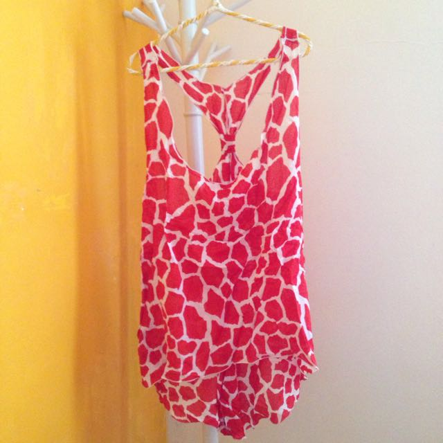 Giraffe Pattern Top