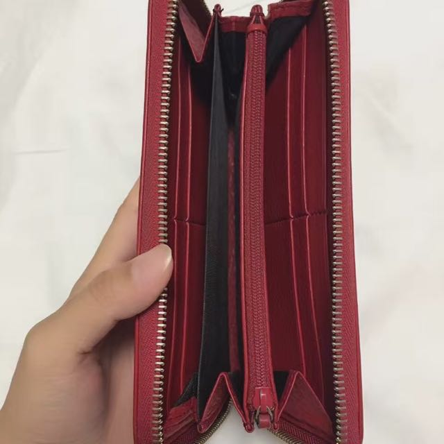 Authentic Gucci Red Wallet Long