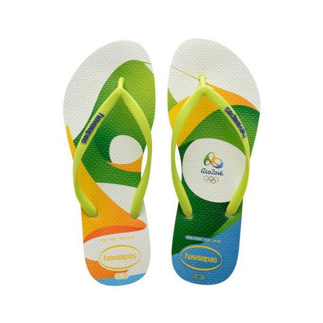 [全新!!] havaianas Slim Rio 系列 哈瓦仕 里約奧運紀念款 直購價 限時大特價兩雙$1100 另有多款巴西限定款可另議