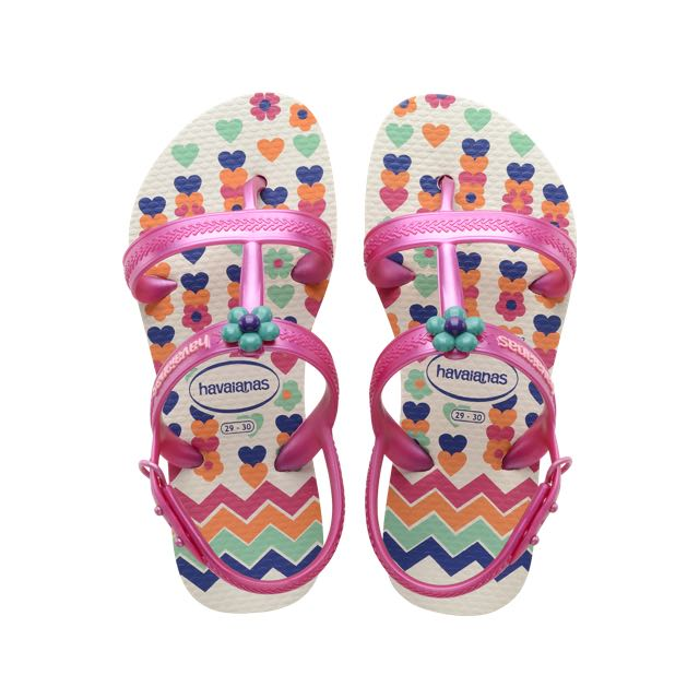 b8827250c Havaianas Kids Joy Spring Sandal White Flip Flop with Backstrap ...