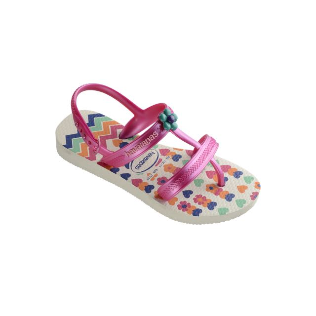 615cb3076589 Havaianas Kids Joy Spring Sandal White Flip Flop with Backstrap  (Toddler Little Kid) Sandals