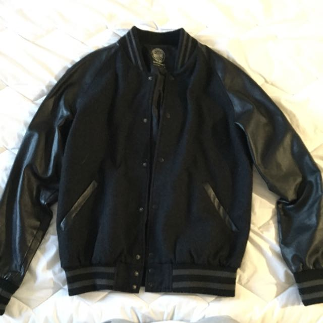 INDUSTRIE leather Varsity Jacket
