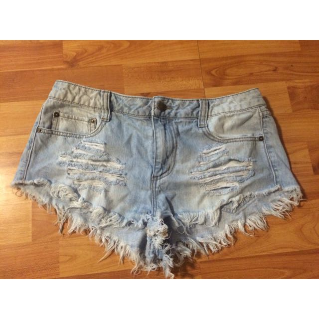Jeans Shorts Vintage Ripped Style