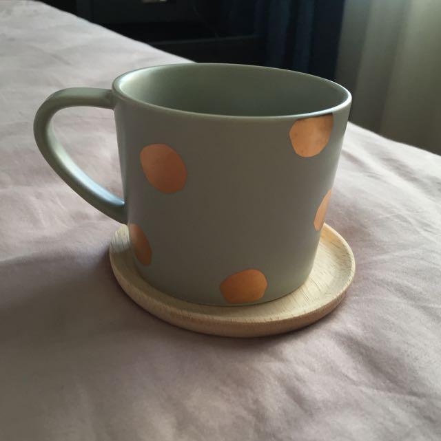 Kikki.K Svenska Hem Tea Cup And Saucer