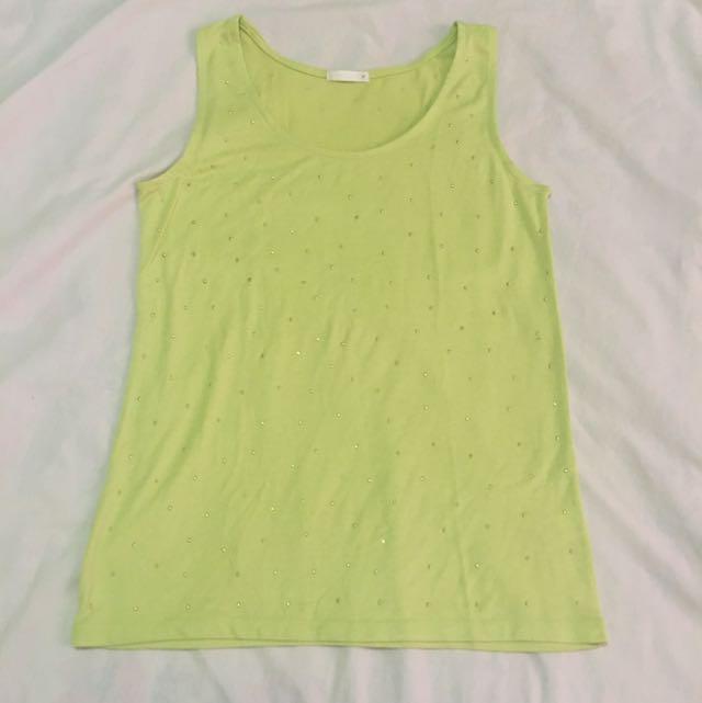 Lime Green Cotton Sleeveless