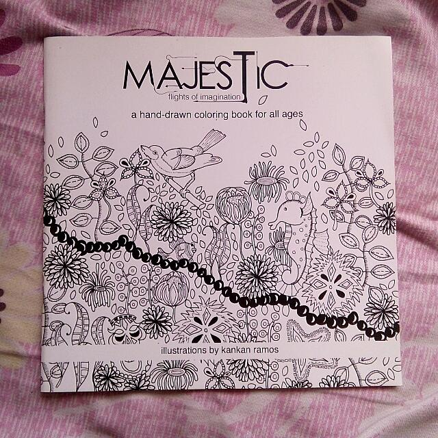 Majestic Coloring Book By Kankan Ramos