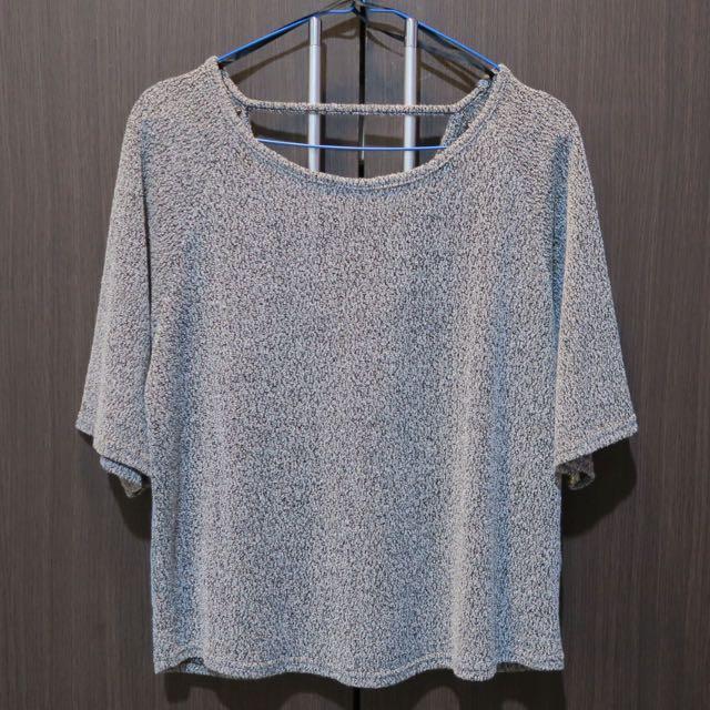 'New Look' Cutout Back Knit Shirt