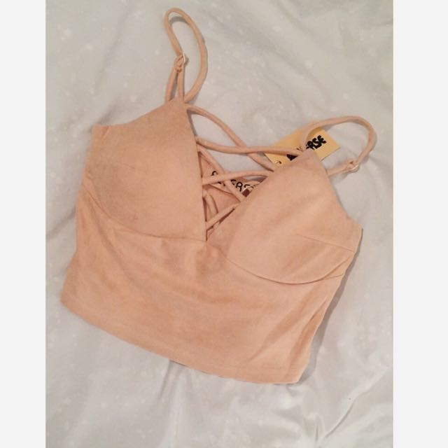 Peach/Nude Crop Top Brand New