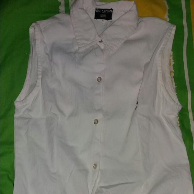 Price Drop!from 100 To 75!  Polo Sleeveless Top