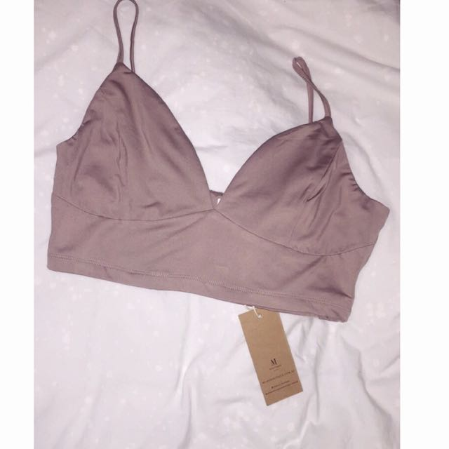 Purple/Taupe/Mauve Bralette/Crop Top Brand New