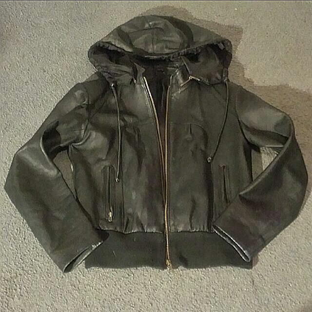 PRICE DROP! Real leather jacket size 8