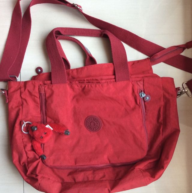 Red Medium Kipling Bag