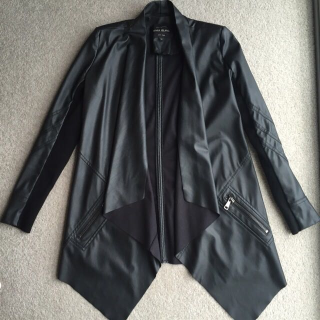 River Island Leather look Jacket Size 6