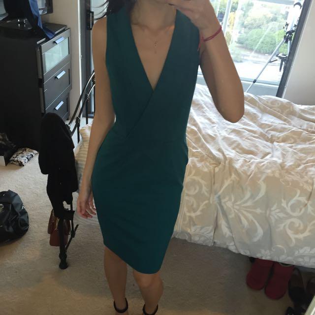 Size 10 Teal Suit Dress