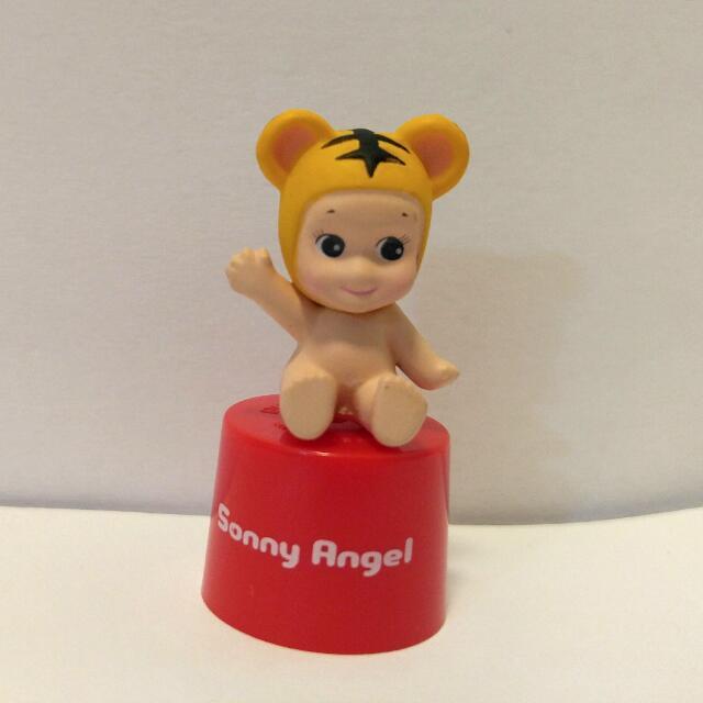 Sonny Angel Animal DECOPPIN系列 耳機孔塞防塵塞 Sonny Angel Animal Series Ver.1變裝動物系列- 老虎仔款 /單售現貨 $35 舊紙盒裝