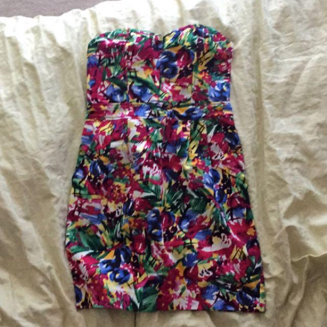 Strapless H&M dress. Size XS