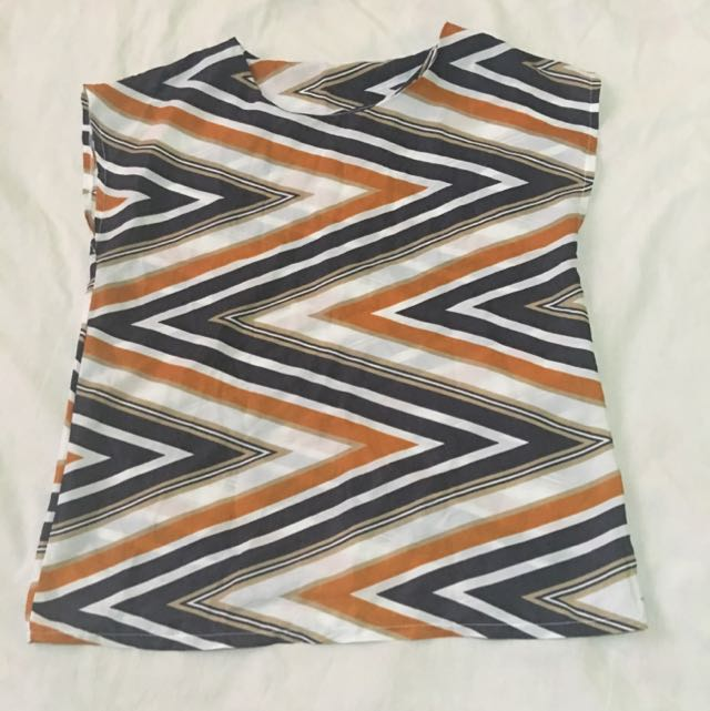 Striped Chiffon Top