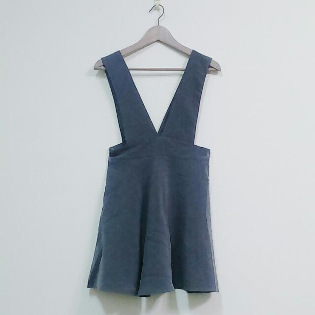 大V領吊帶洋裝 吊帶裙