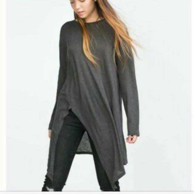 Zara Assymetrical T Shirt Dress