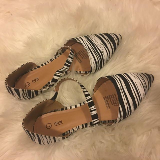 Zebra Patterned Flats