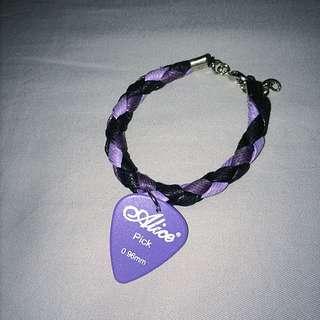 全新—紫色pick編織手環
