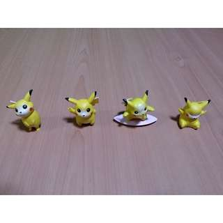 [PRICE REDUCED]  Cute set of Pikachu figurines for sale!