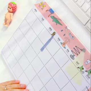 INSTOCK A4 Monthly Desk Planner