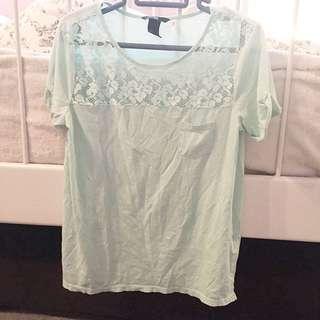 H&M Mint Green Tshirt