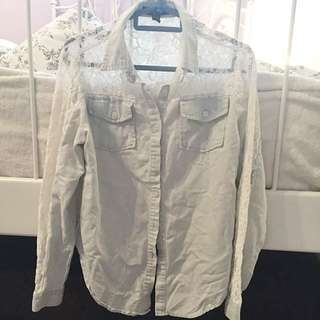 Light Denim Lace Shirt