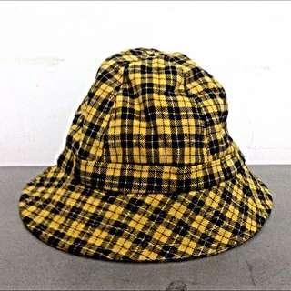 降!Vintage古著蘇格蘭格紋漁夫帽