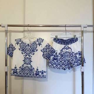 *RESERVED* White/Blue Matching Set