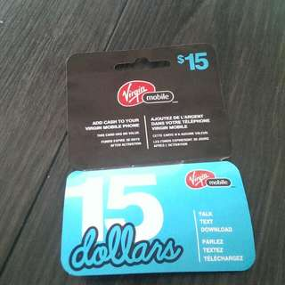 Brand New Virgin Mobile Prepaid Card