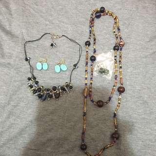 Necklace ,earrings