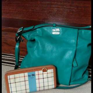 Teal Coach Bag Beautiful Condition.