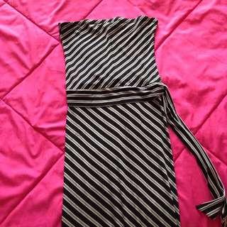 Strapless Striped Dress