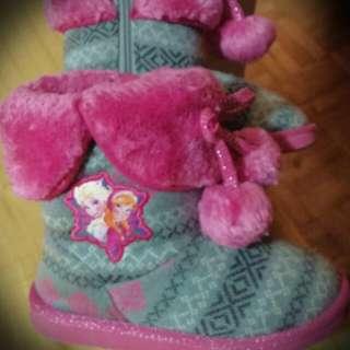 Toddler Girls Frozen Boots Sz.12