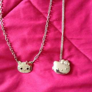 Two Hello Kitty Necklaces