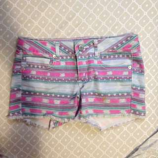 American Eagle Denim Tribal Shorts