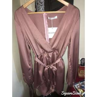 Pink Silky Playsuit BRAND NEW