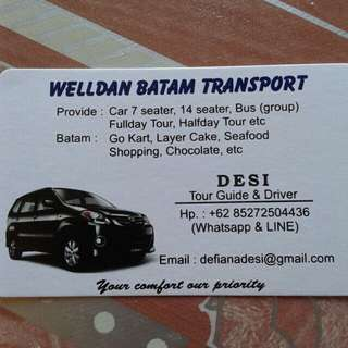 Batam Driver And Batam Guide