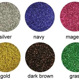 9 Colors Glitter Powder