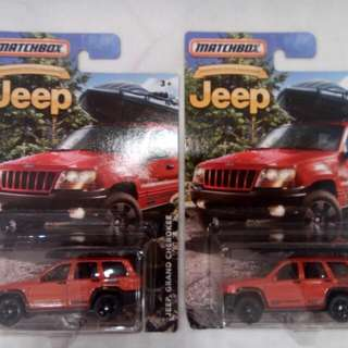 Matchbox Jeep Grand Cherokee & Wrangler Superlift Special Series Die-cast