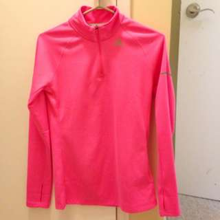 Neon Pink Adidas Running Sweater