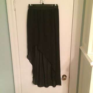 Black High-Low Skirt
